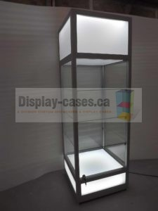Glass Tower Showcases made for companies in the USA
